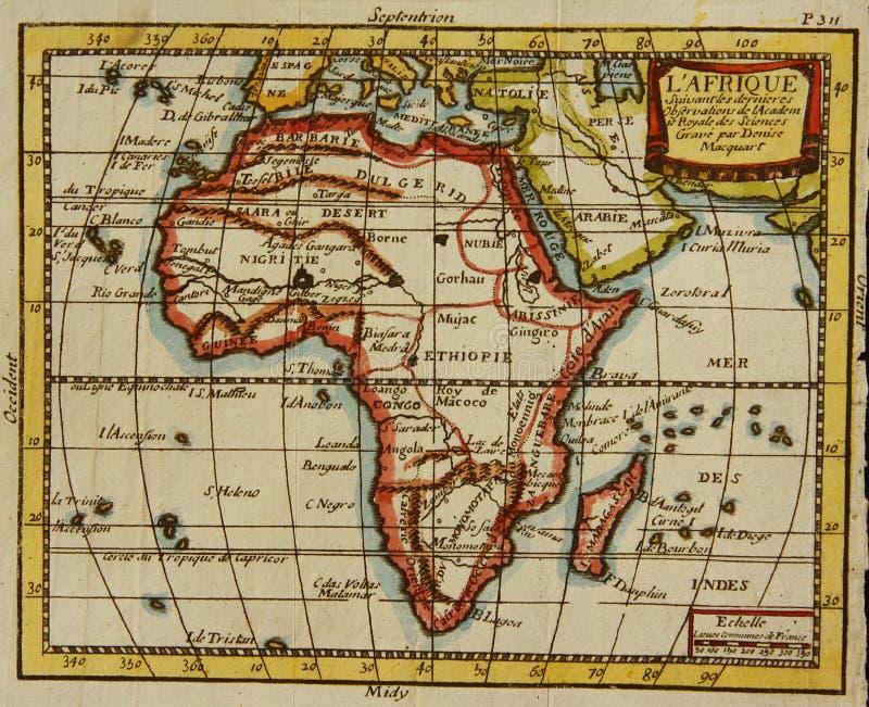 Старая карта Африки стоковые фотографии rf
