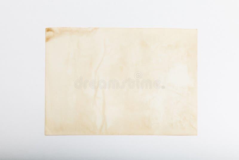 Старая карта изображения рамки фото, античная предпосылка открытки стоковые фотографии rf