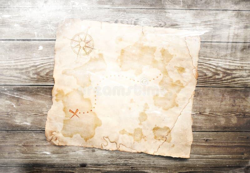 Старая карта сокровища стоковое фото