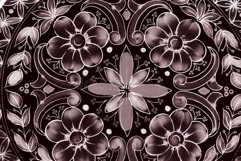Старая картина цветков и форм стоковое фото