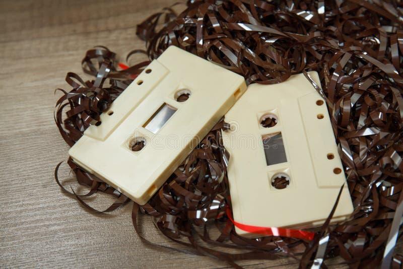 Старая кассета со свободной лентой стоковая фотография rf