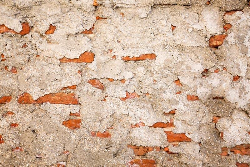 Старая кирпичная стена с текстурой цемента абстрактная предпосылка стоковое фото rf