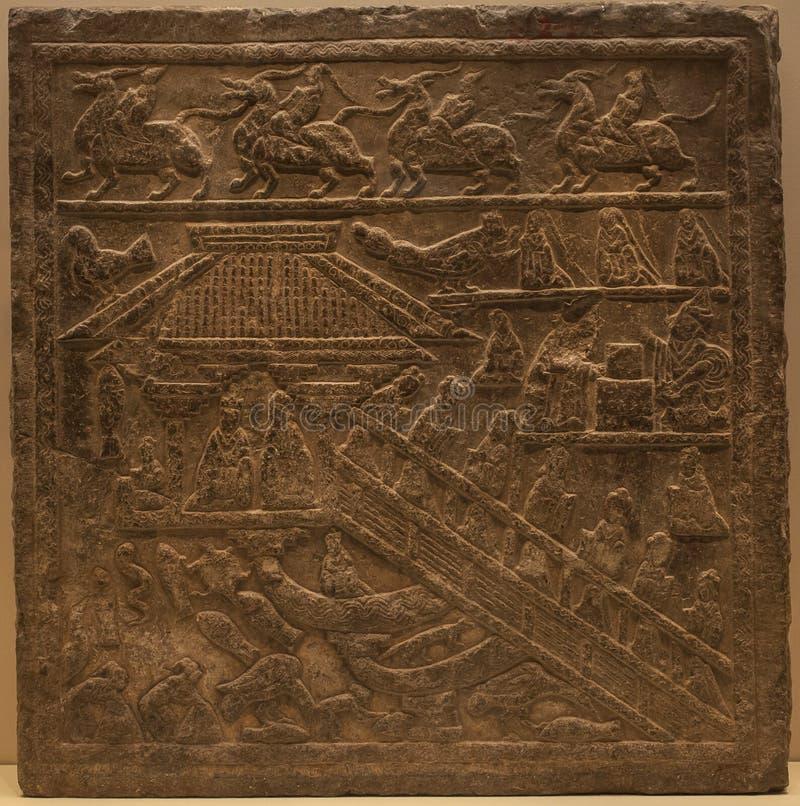 Старая китайская декоративная предпосылка картины стоковое фото rf