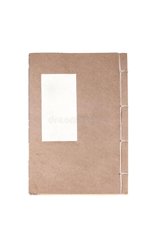 Старая книга Восточной Азии Kraft взгляд сверху стоковые изображения rf