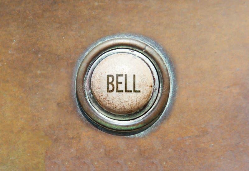 Старая кнопка - колокол стоковые изображения rf