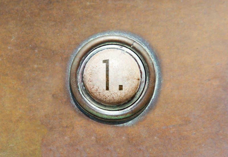 Старая кнопка - 1 стоковое фото