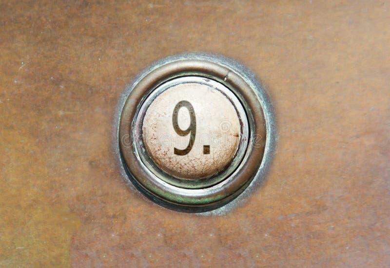 Старая кнопка - 9 стоковые фото