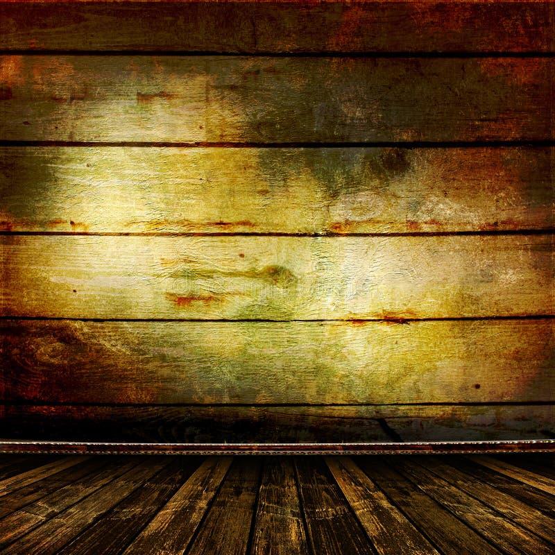 старая комната огораживает деревянное стоковые фотографии rf