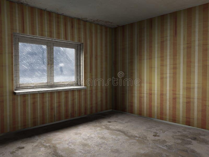 старая комната иллюстрация вектора