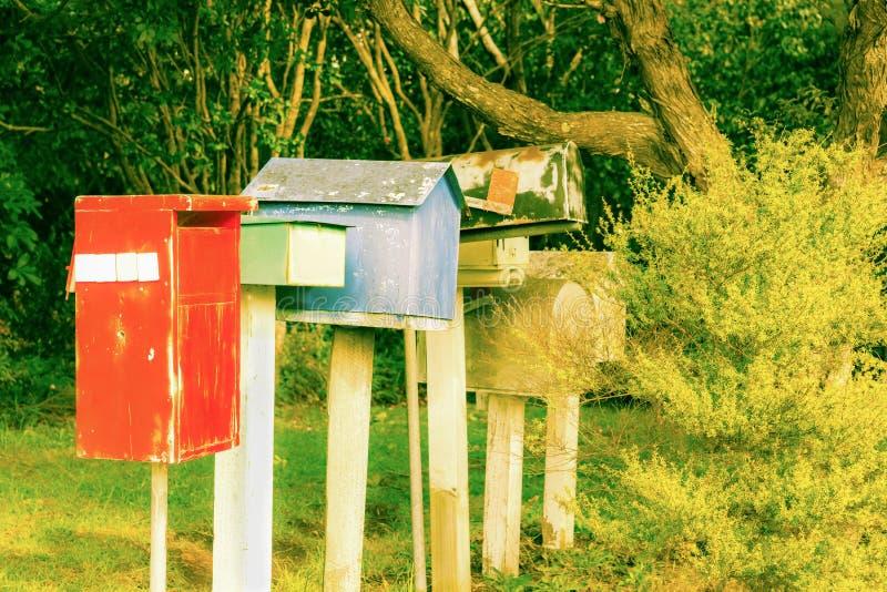 Старая компановка коробки письма стоковые фото