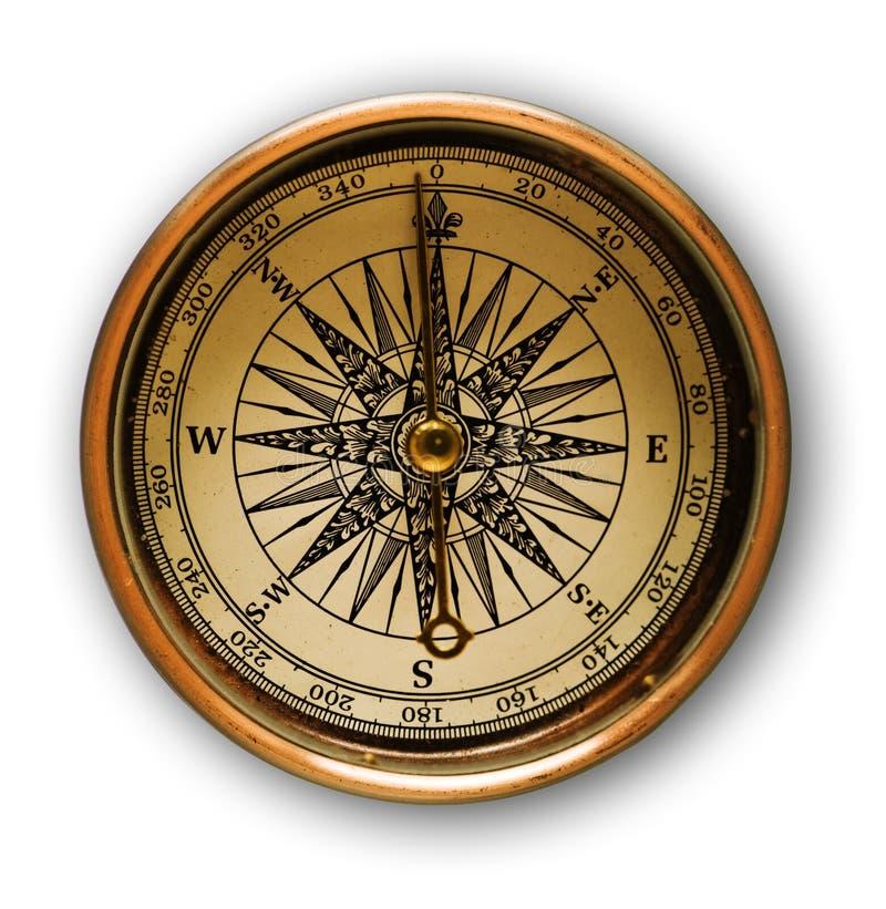 старая компаса золотистая стоковое изображение