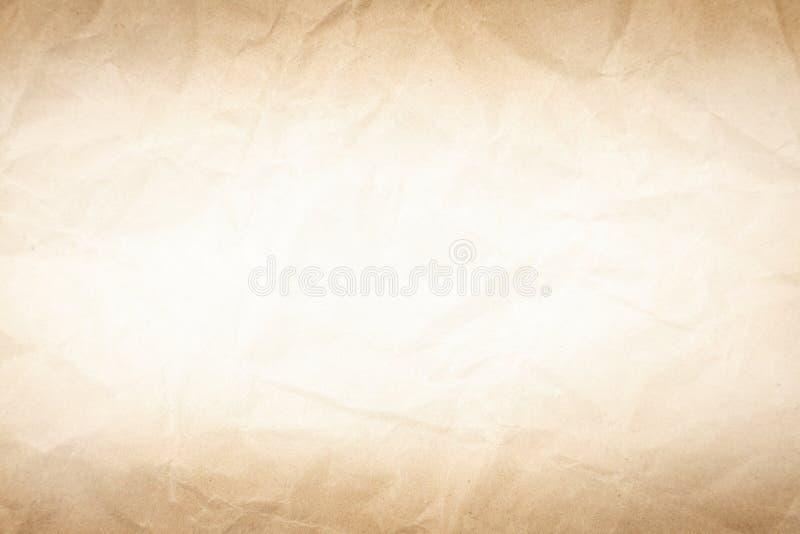 Старая коричневая бумага текстуры винтаж фон стоковая фотография rf