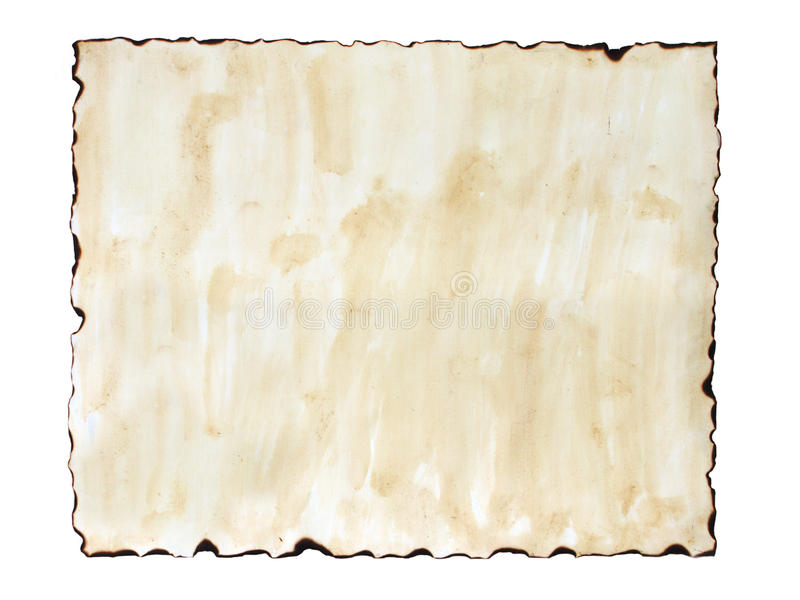 Старая, который сгорели бумага стоковое фото rf