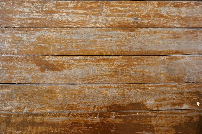 Старая краска шелушения на деревянной текстуре стоковая фотография rf