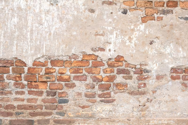 Старая красная текстура кирпичной стены повредила предпосылку Брайна абстрактную пустую Stonewall стоковые изображения rf
