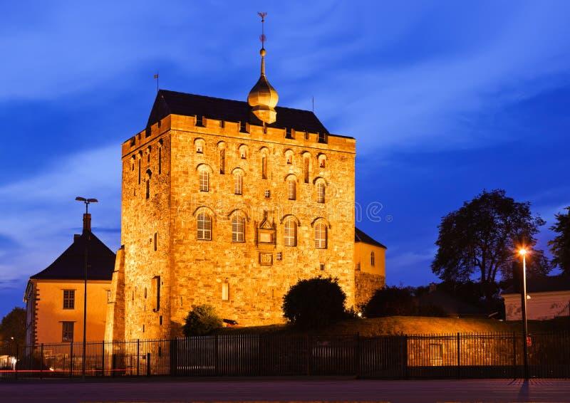 Старая крепость в Бергене Норвегии стоковые изображения