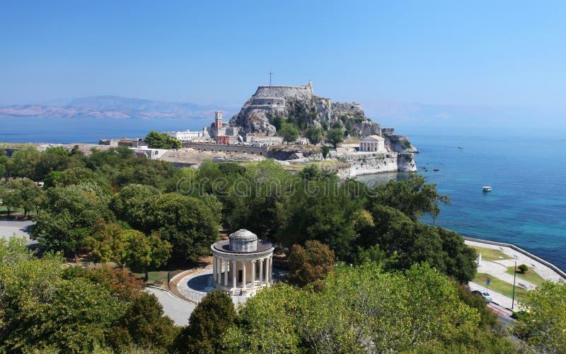 Старая крепость в Corfu, Греции стоковое фото