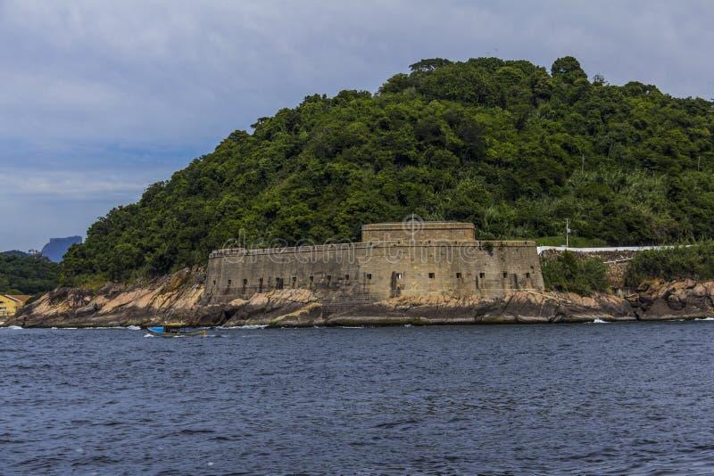 Старая крепость Форталеза de Santa Cruz, Рио-де-Жанейро, Бразилия стоковая фотография