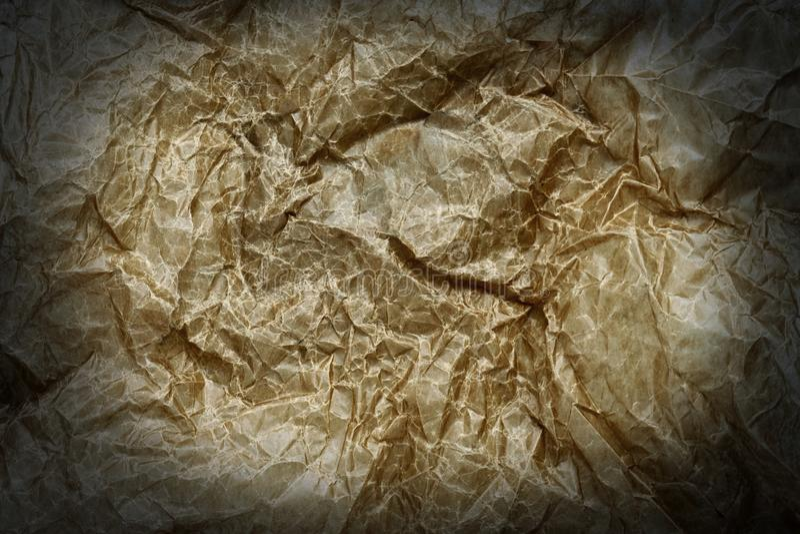 Старая мазеподобная скомканная бумажная предпосылка стоковая фотография rf