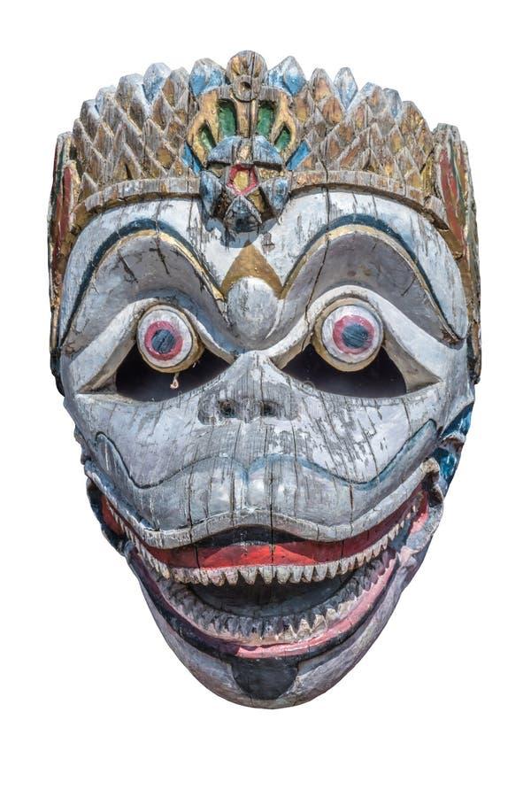 Старая маска обезьяны, изолят стоковая фотография rf