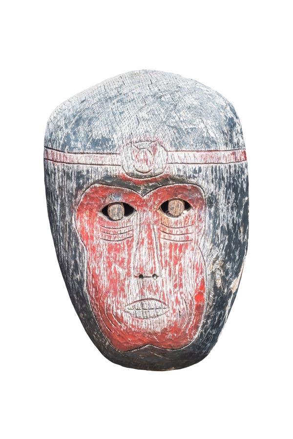 Старая маска обезьяны, изолят стоковое фото rf