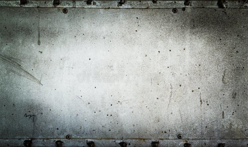 Старая металлическая пластина стоковое изображение