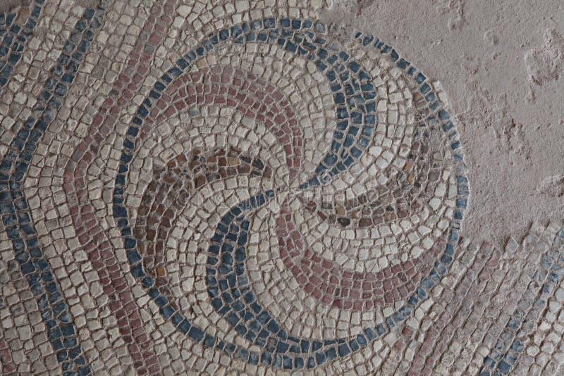 Старая мозаика в древнем городе Antandrus, Турции стоковое фото