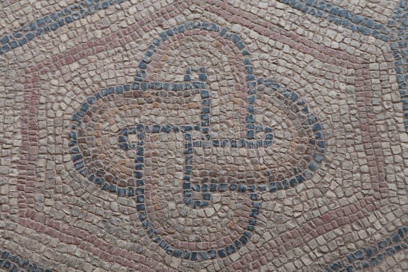 Старая мозаика в древнем городе Antandrus, Турции стоковые фотографии rf