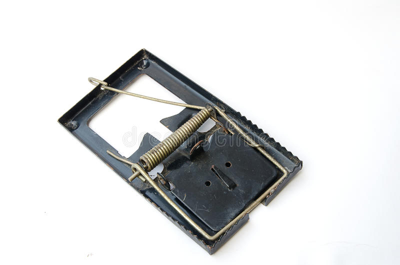Старая мышеловка металла стоковое изображение