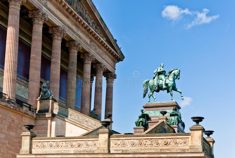 Старая национальная галерея, Берлин стоковые фото