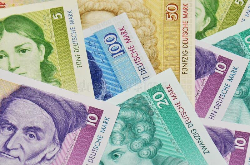 Старая немецкая валюта стоковые изображения rf
