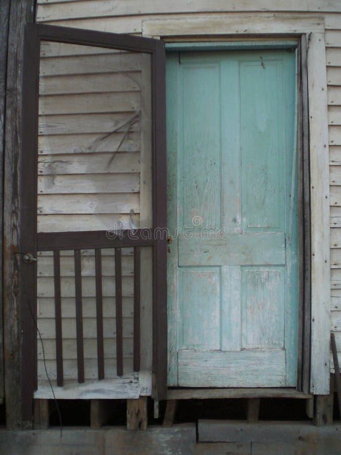 Старая несенная дверь стоковое фото rf