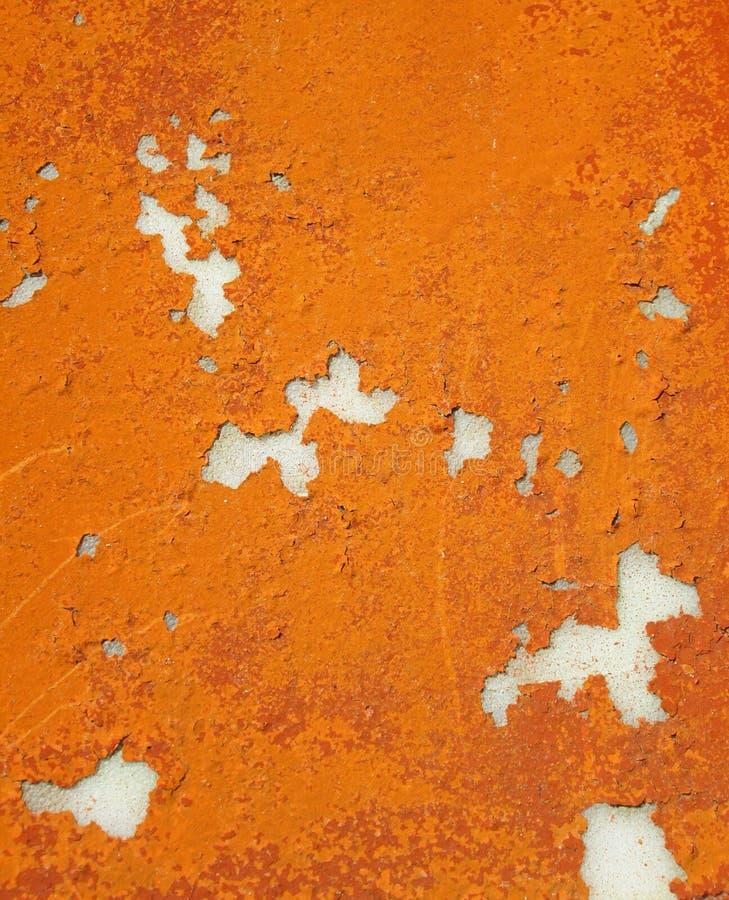 Старая оранжевая бетонная стена стоковое фото rf
