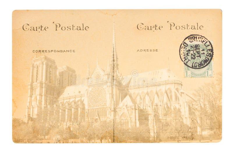 Старая открытка Парижа стоковое изображение rf