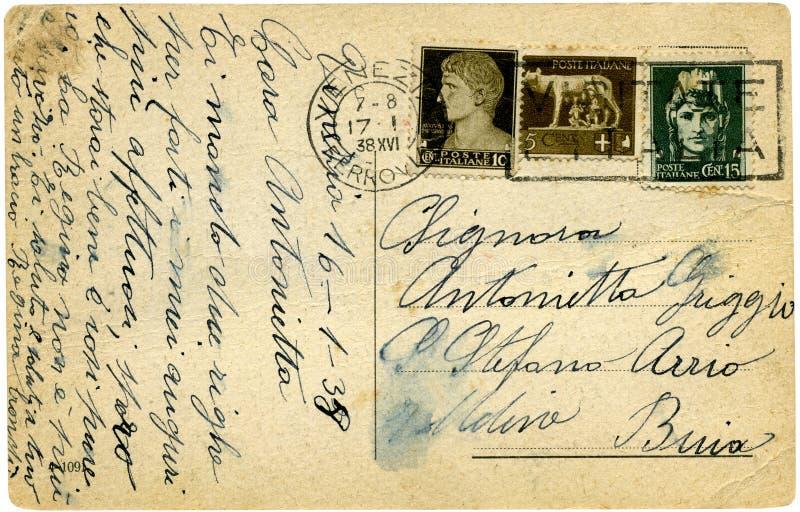 старая открытка стоковое изображение rf