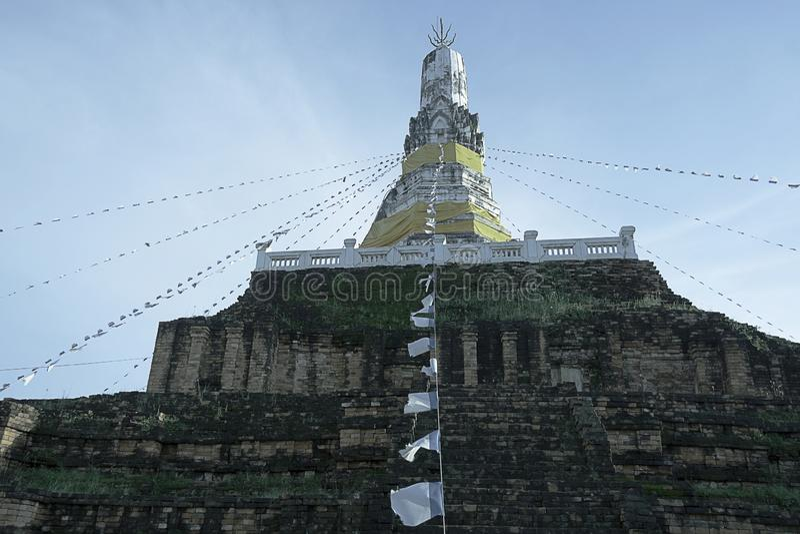 Старая пагода в Таиланде стоковое фото
