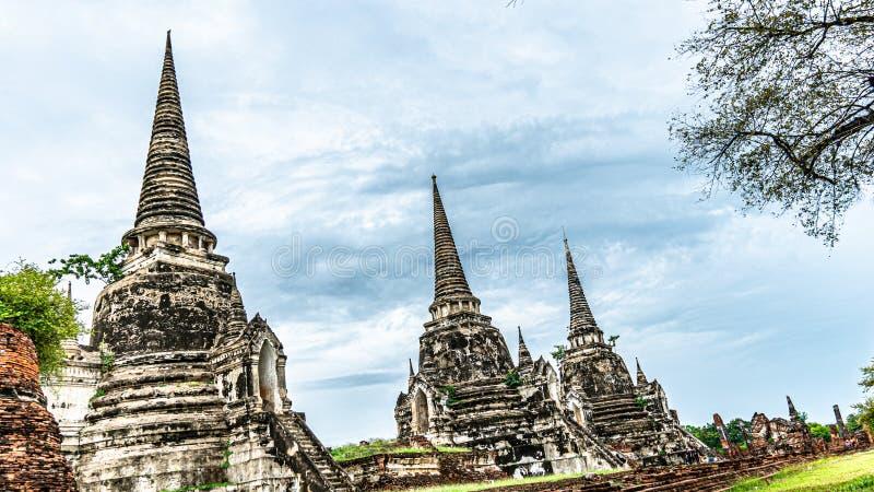 Старая пагода в Ayutthaya Таиланде стоковое изображение