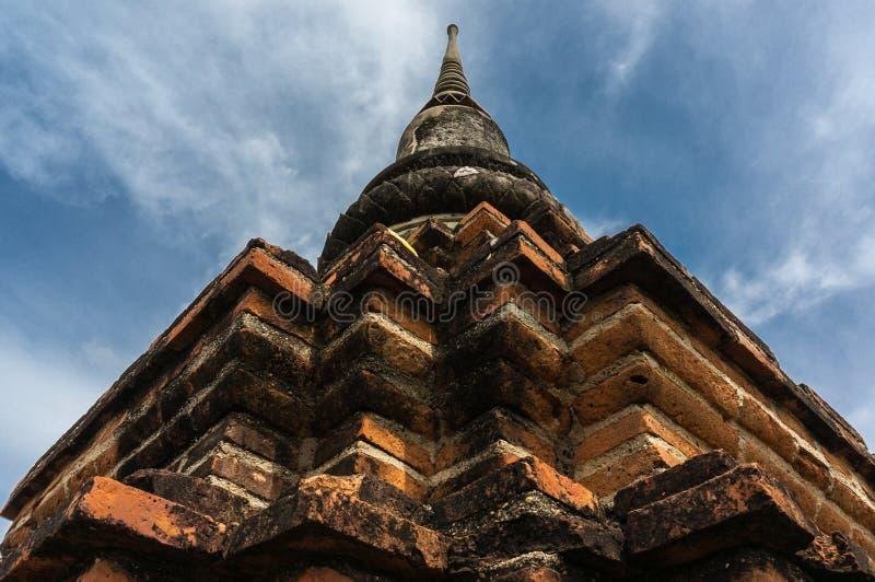 Старая пагода на виске Wat Phra Sri Sanphet, Таиланде стоковые изображения