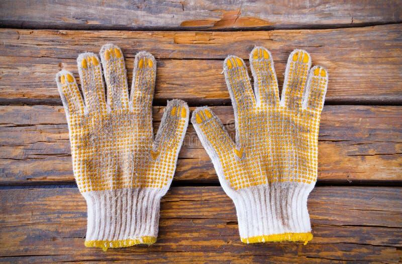 Старая перчатка работы хлопка стоковая фотография rf