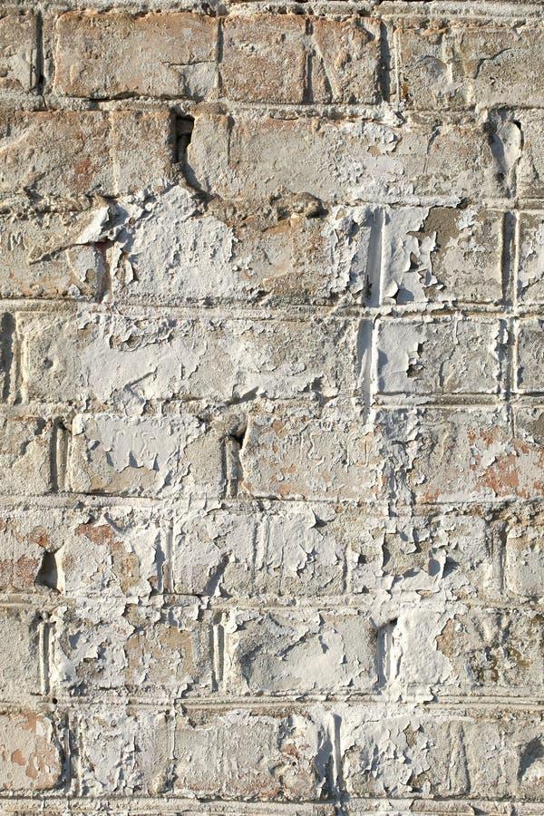 Старая покрашенная кирпичная стена, предпосылка стоковое изображение rf