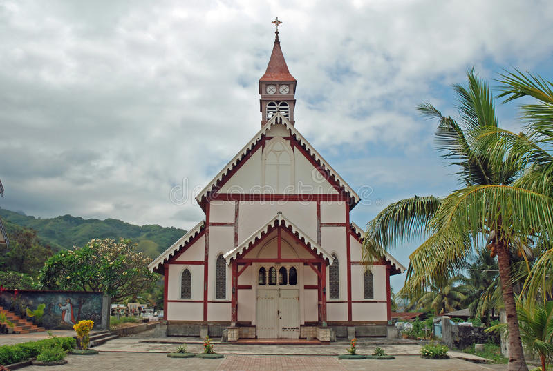 Старая португальская католическая церковь, Flores, Индонесия стоковое изображение rf