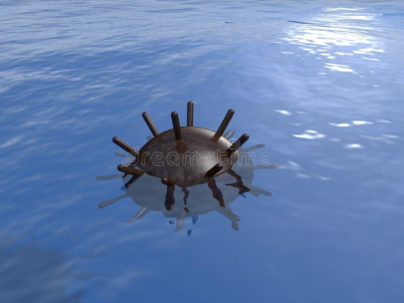 Старая подводная шахта в море бесплатная иллюстрация