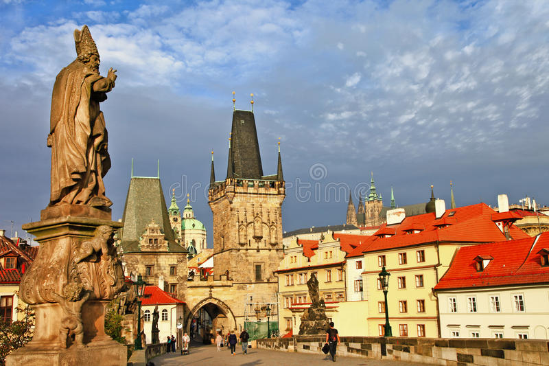Старая Прага, Карлов мост стоковая фотография
