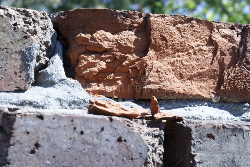Старая предпосылка конца-вверх текстуры кирпичной стены стоковое фото