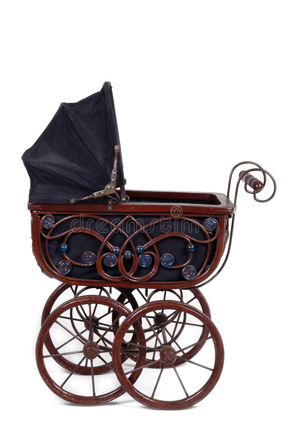 старая прогулочная коляска стоковые изображения rf