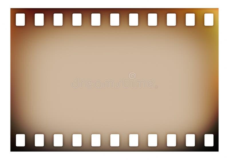 Старая прокладка фильма grunge иллюстрация вектора