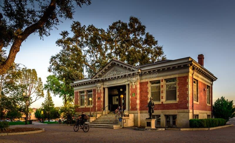 Старая публичная библиотека Paso Robles стоковое фото rf
