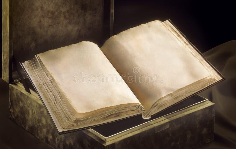 Старая раскрытая книга стоковое изображение rf