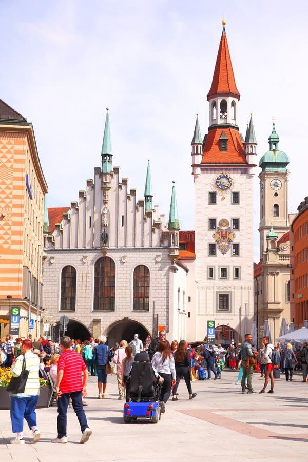 Старая ратуша в Мюнхене стоковое фото