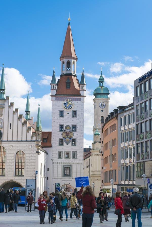 Старая ратуша Мюнхен стоковое изображение rf
